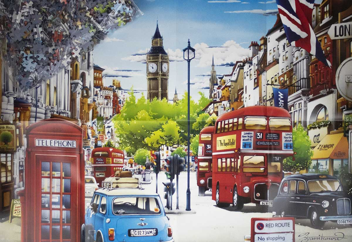 London Red Bus Travel Jigsaw Puzzle
