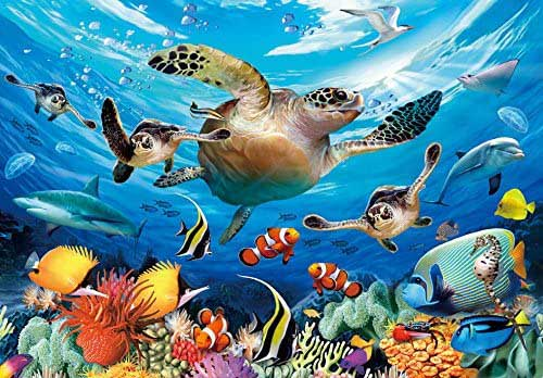 Sea Turtles Under The Sea Jigsaw Puzzle