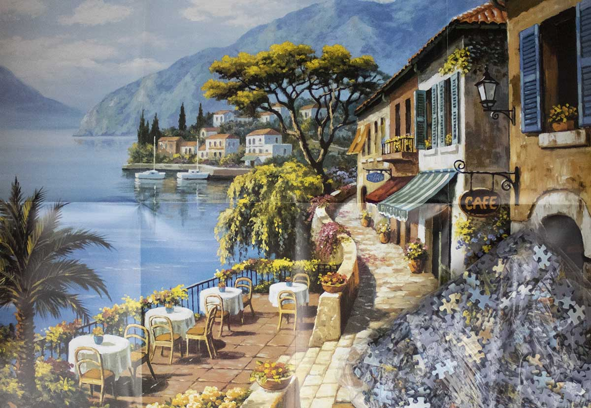 Overlook Cafe Street Scene Jigsaw Puzzle