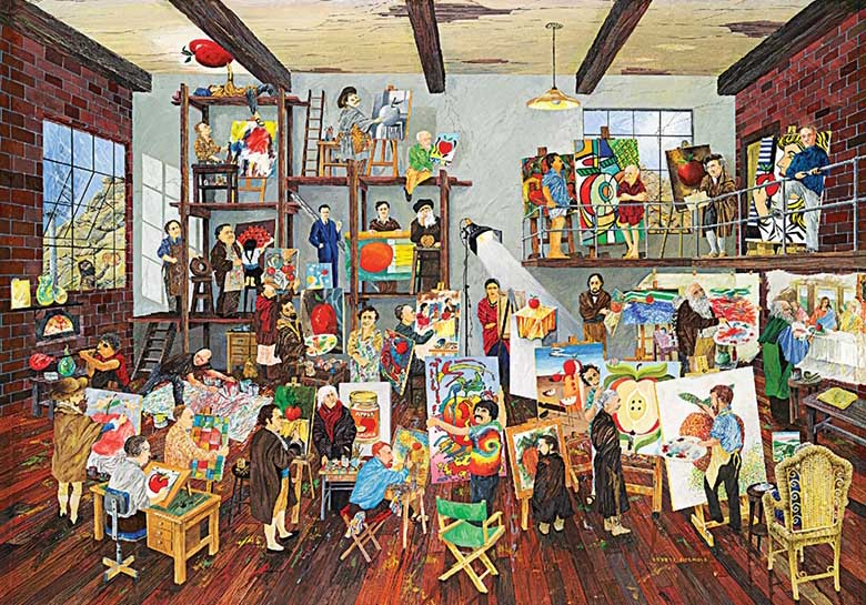 The Great Artists Famous People Jigsaw Puzzle