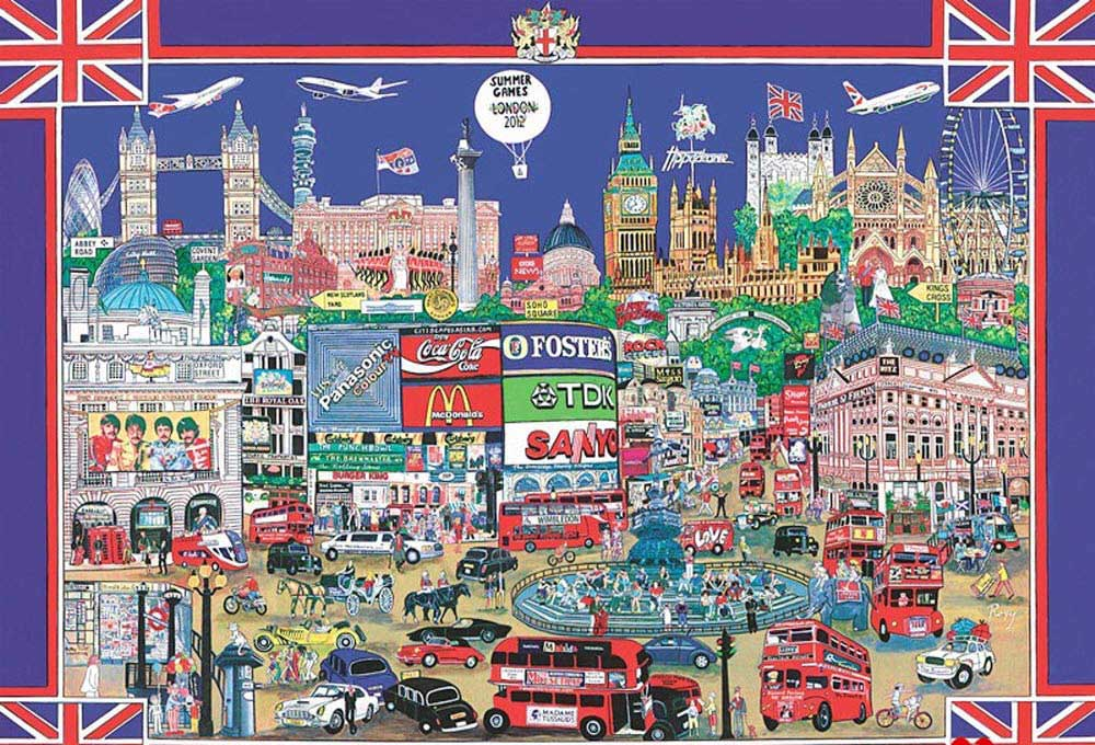 City Night London London Jigsaw Puzzle