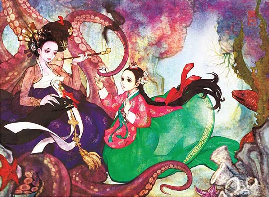 Determination Of The Little Mermaid Asian Art Jigsaw Puzzle