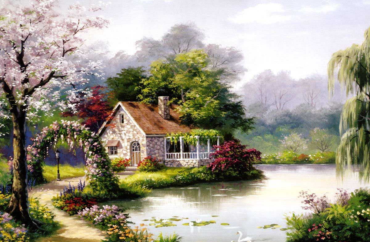 Arbor Cottage Lakes / Rivers / Streams Jigsaw Puzzle