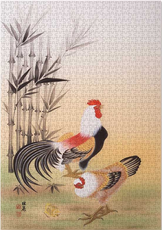 The Sound Of Morning Chickens & Roosters Jigsaw Puzzle