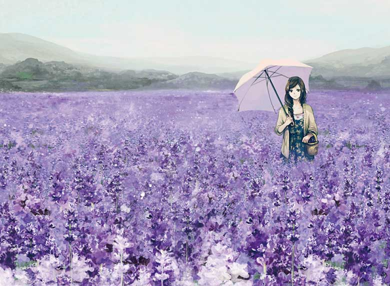 Memory Of A Lavender Garden Flowers Jigsaw Puzzle