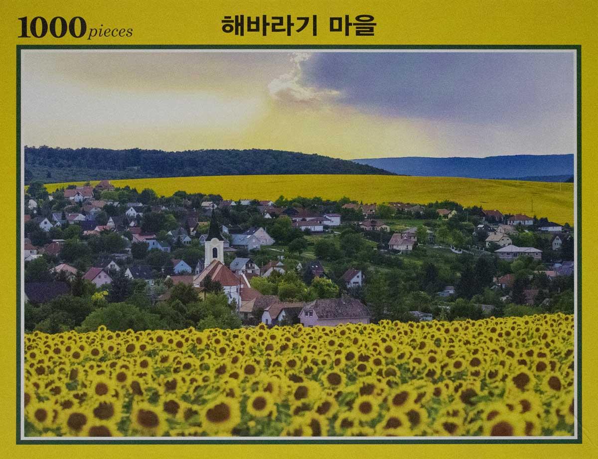 Sunflower Town Village Flowers Jigsaw Puzzle