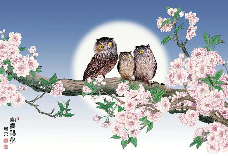 Owls In A Tree Owl Jigsaw Puzzle