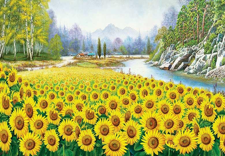 Sunflower In Hometown Sunflower Jigsaw Puzzle