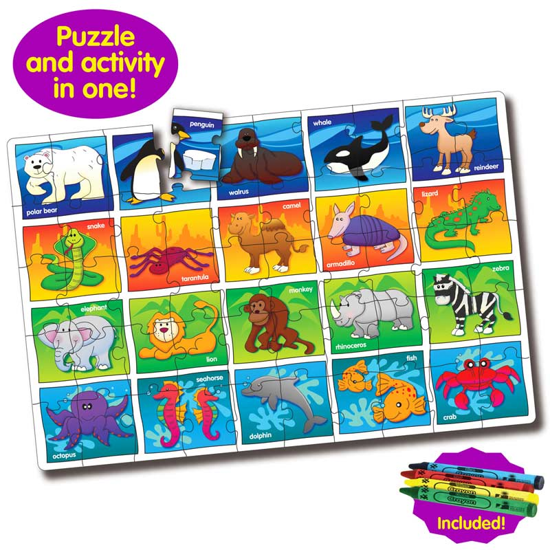 Puzzle Doubles Let's Learn the Animals Other Animals Floor Puzzle