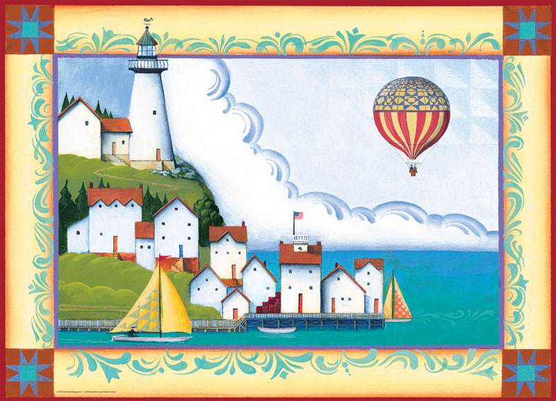 Coastal Village Lighthouses Jigsaw Puzzle