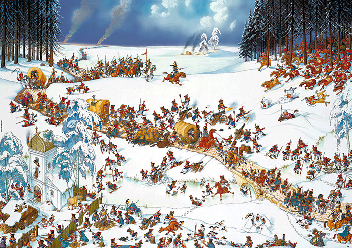 Napoleon S Winter Games Jigsaw Puzzle Puzzlewarehouse Com