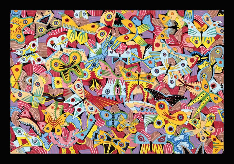 Alex Beard - Butterflies Abstract Jigsaw Puzzle