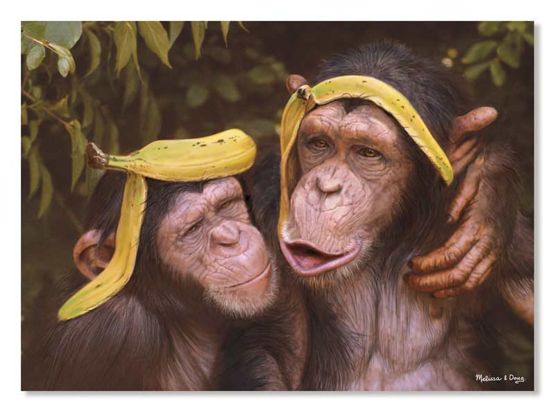 Cheeky Chimps - Scratch and Dent Animals Jigsaw Puzzle
