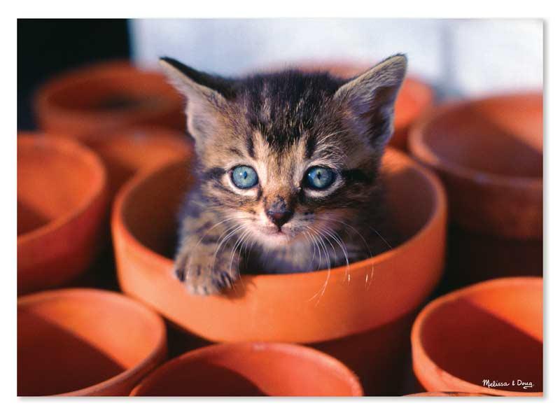 Flowerpot Kitten - Scratch and Dent Cats Jigsaw Puzzle