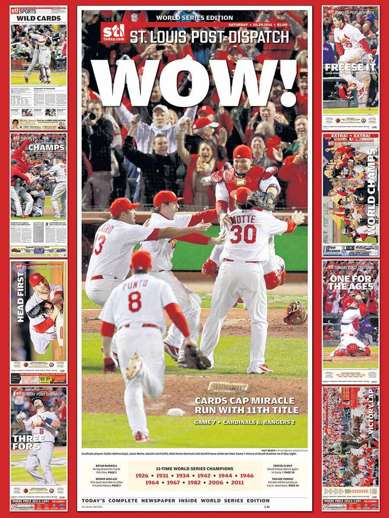 2011 World Series Champions - St Louis Cardinals Magazines and Newspapers Jigsaw Puzzle