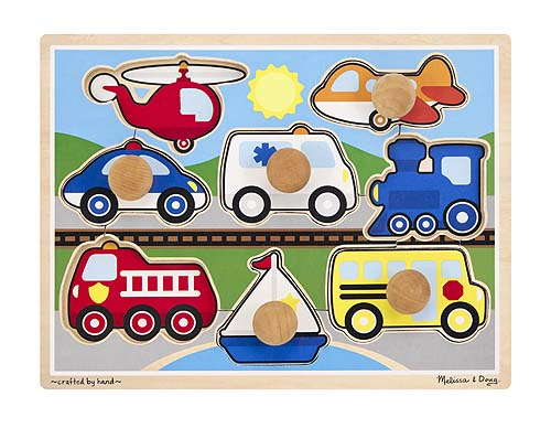 Vehicles - Jumbo Knob Puzzle Vehicles Jigsaw Puzzle