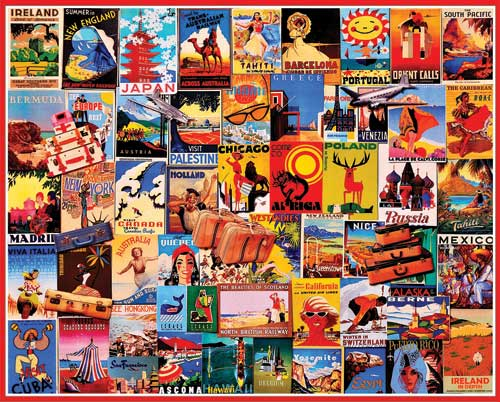 Travel Dreams Posters 1000 Pieces White Mountain