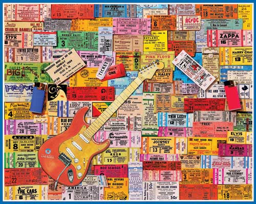 Concert Tickets Music Jigsaw Puzzle