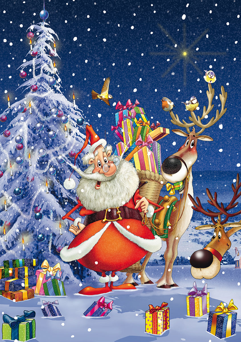 Happy Santa Christmas Jigsaw Puzzle
