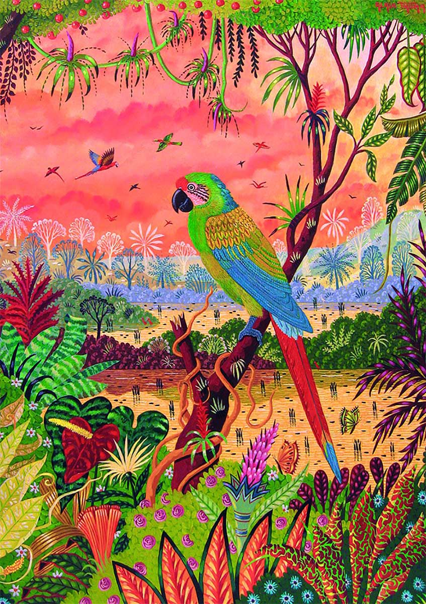 Great Green Macaw Birds Jigsaw Puzzle