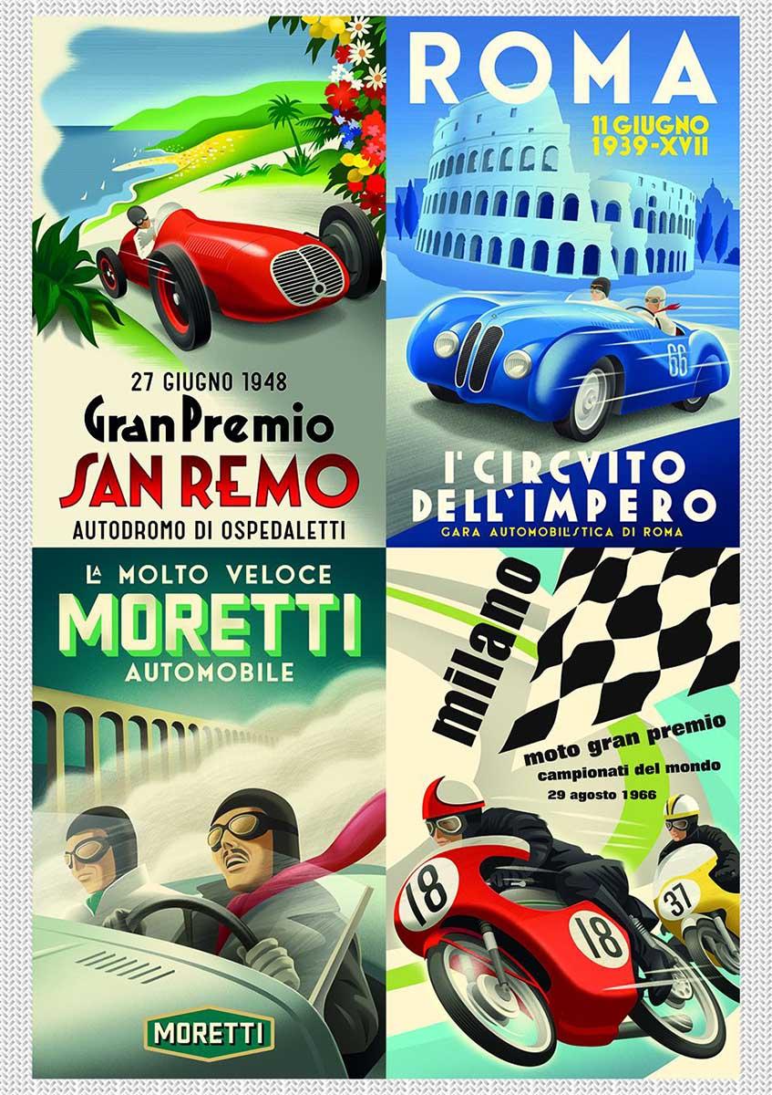 Classic Italian Cars Cars Jigsaw Puzzle