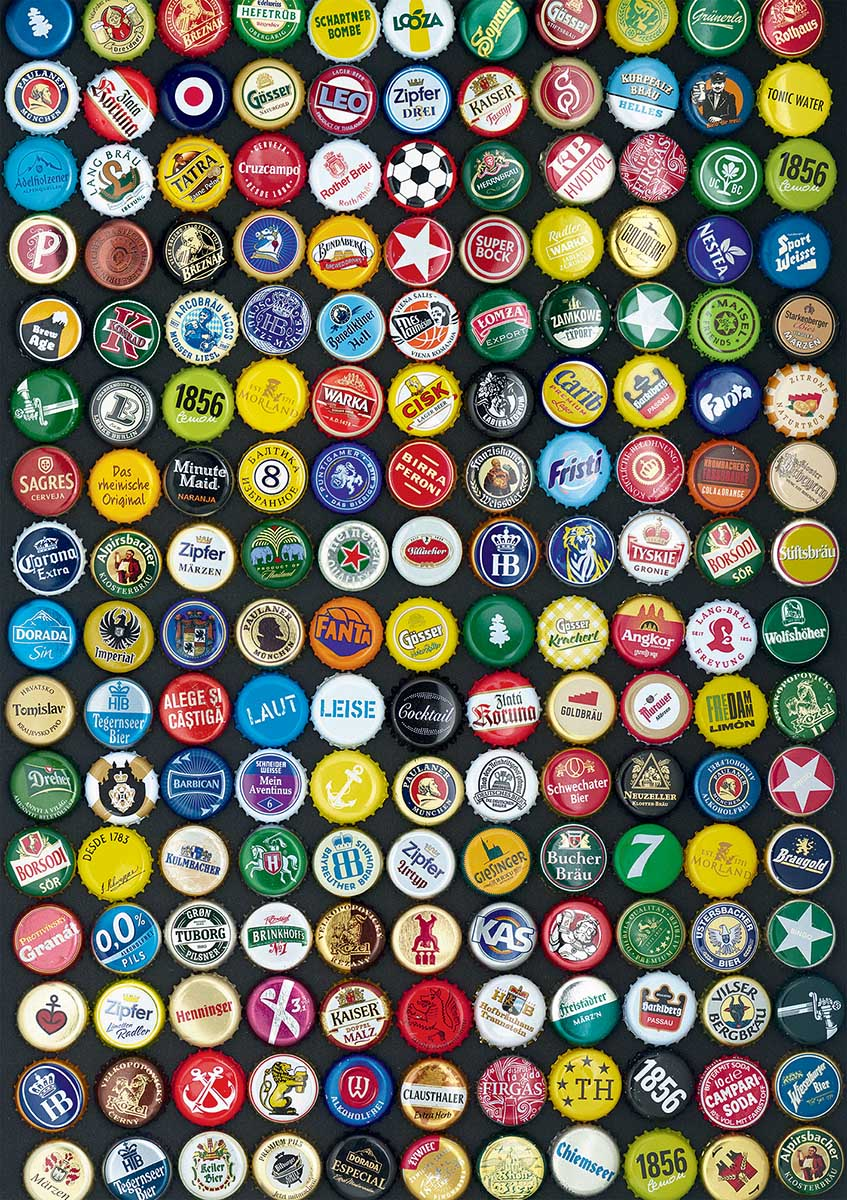 Bottle Caps Everyday Objects Jigsaw Puzzle