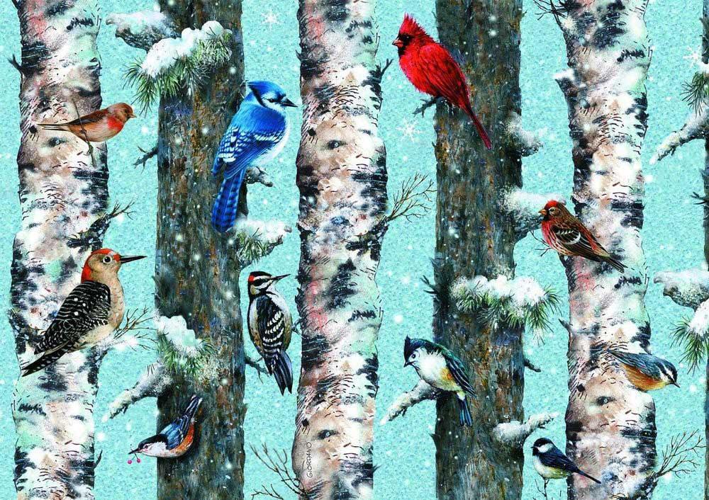 Christmas Birds Birds Jigsaw Puzzle