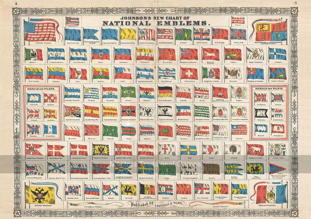 National Emblems Travel Jigsaw Puzzle