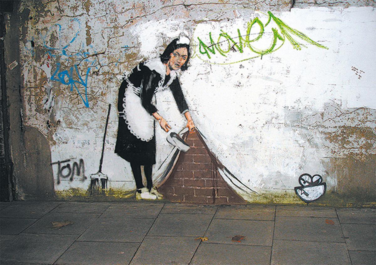 Banksy Maid Street Scene Jigsaw Puzzle