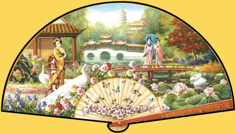 Japanese Garden Asian Art Shaped Puzzle