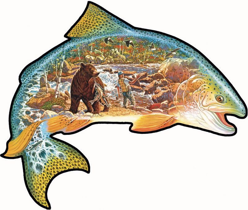 Trout Story Bears Jigsaw Puzzle