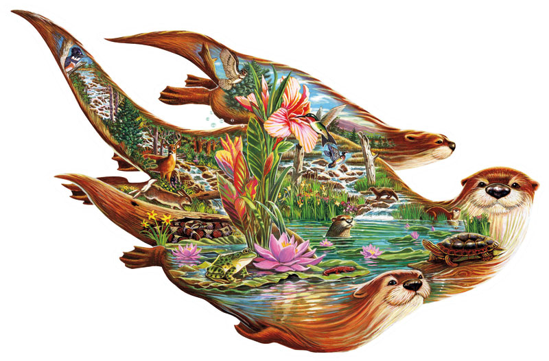 Otter Pond Jigsaw Puzzle