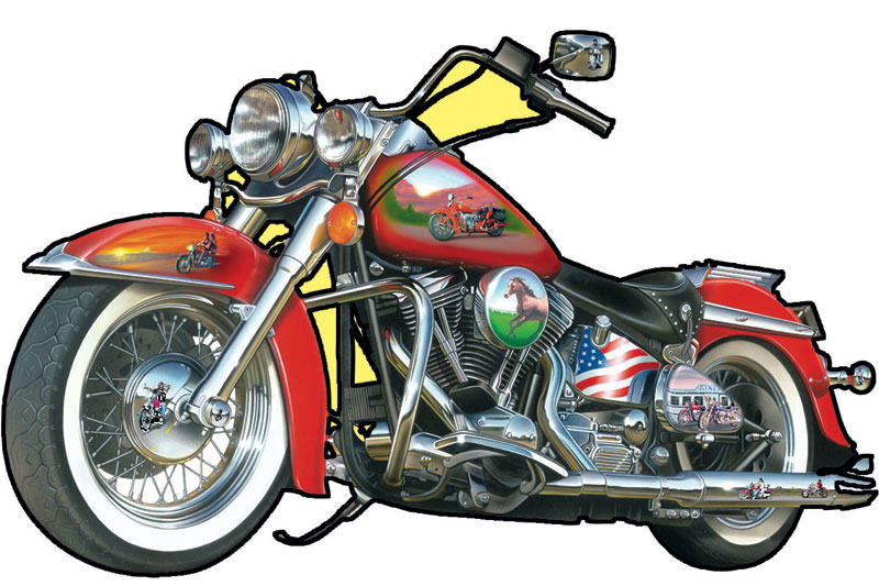 Fast Lane Motorcycles Jigsaw Puzzle