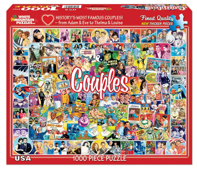 Couples - Scratch and Dent Famous People Jigsaw Puzzle