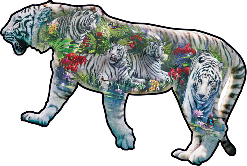 White Beauty Tigers Jigsaw Puzzle