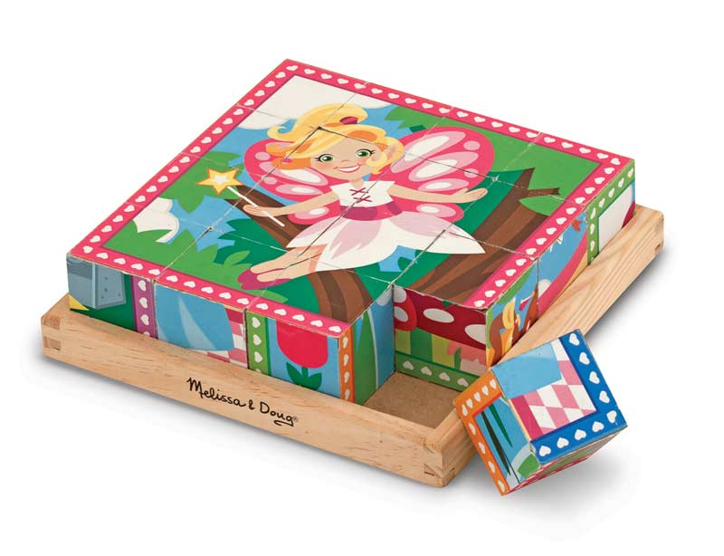 Princess & Fairy Cube Puzzle Fairies Jigsaw Puzzle