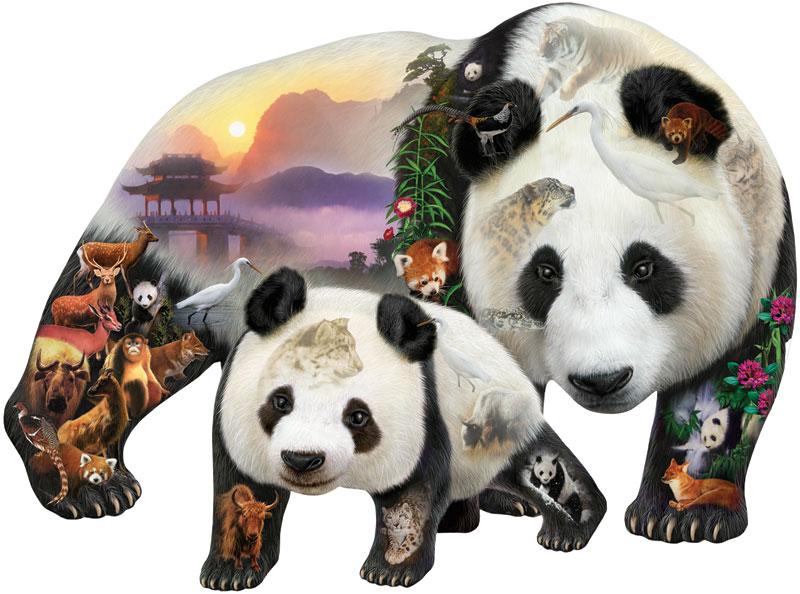 Panda Playground Asia Jigsaw Puzzle