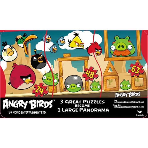 Angry Birds Panoramic Puzzle Tin Cartoons Jigsaw Puzzle
