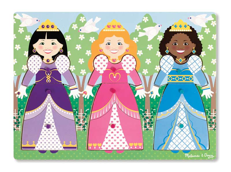 Dress-Up Princesses Peg Puzzle People Jigsaw Puzzle