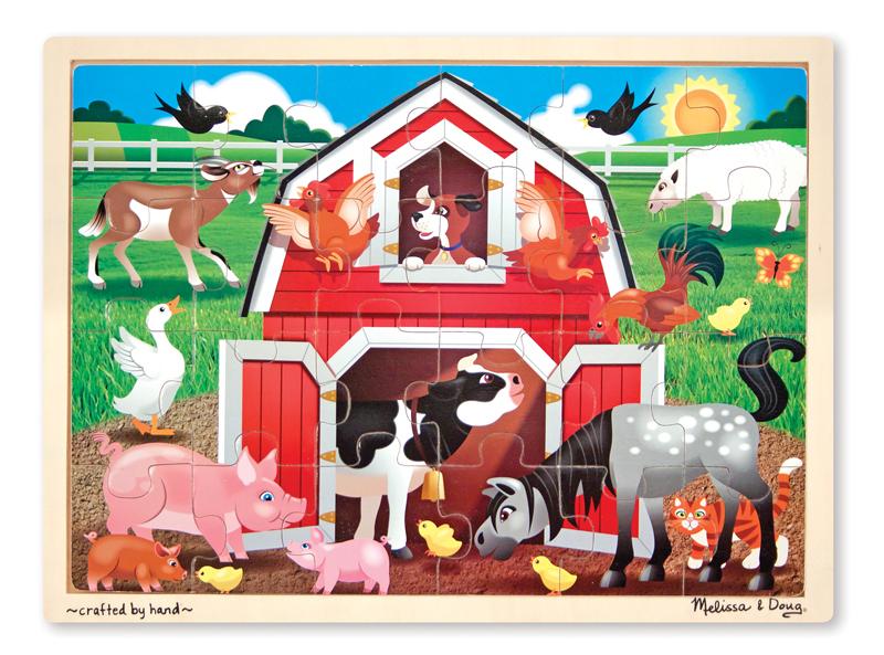 Barnyard Buddies Farm Animals Jigsaw Puzzle