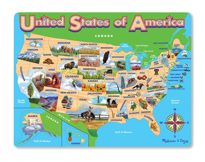 USA Map Jigsaw Puzzle Maps / Geography Jigsaw Puzzle