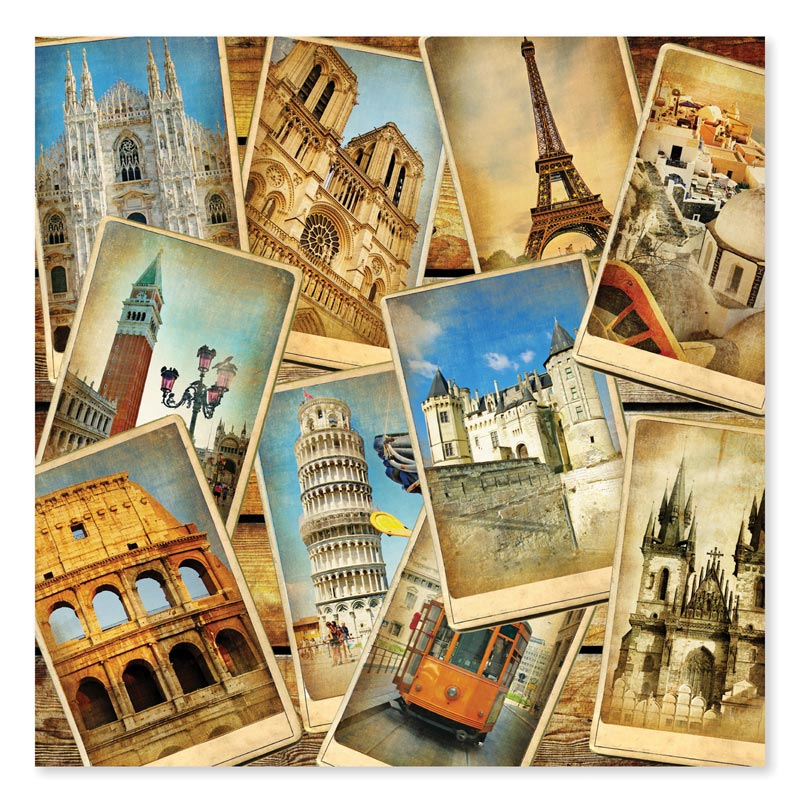 Postcards from Europe - Scratch and Dent Travel Jigsaw Puzzle