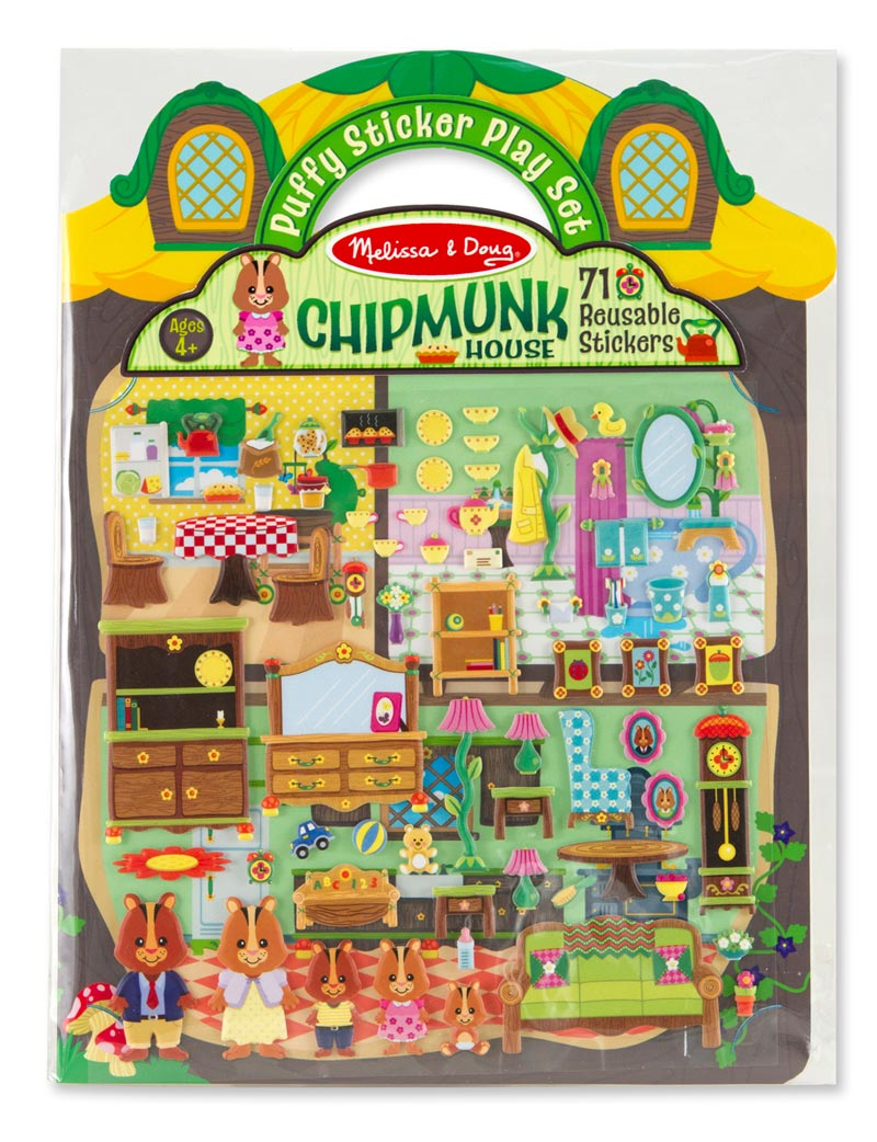 Puffy Sticker Play Set - Chipmunk House Pirates Activity Books and Stickers