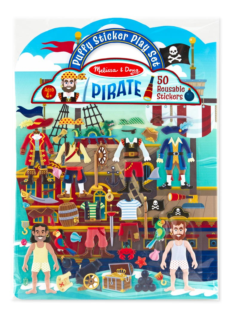 Puffy Sticker Play Set - Pirate Pirates Activity Books and Stickers