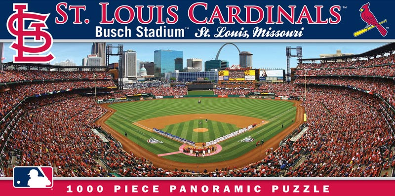 MLB Stadium Panoramic - St Louis Cardinals Sports Jigsaw Puzzle