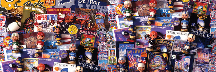 Super Bowl Collectibles Sports Jigsaw Puzzle