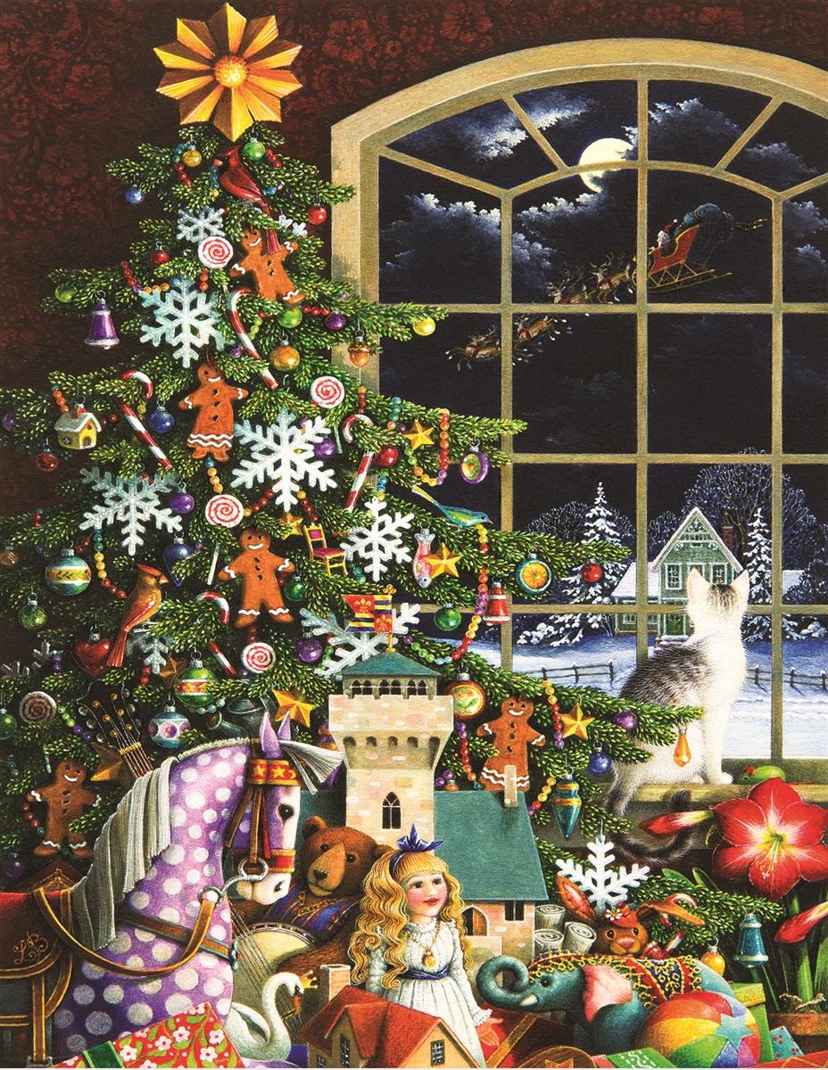 Santa's Visit Christmas Jigsaw Puzzle