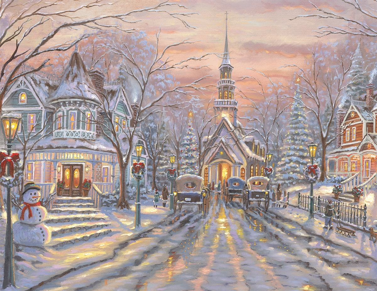 White Christmas Winter Jigsaw Puzzle
