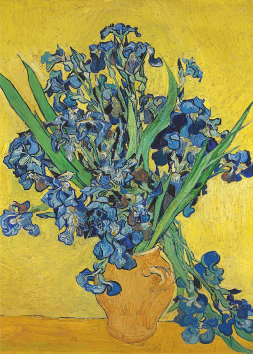 Irises In Vase Fine Art Jigsaw Puzzle