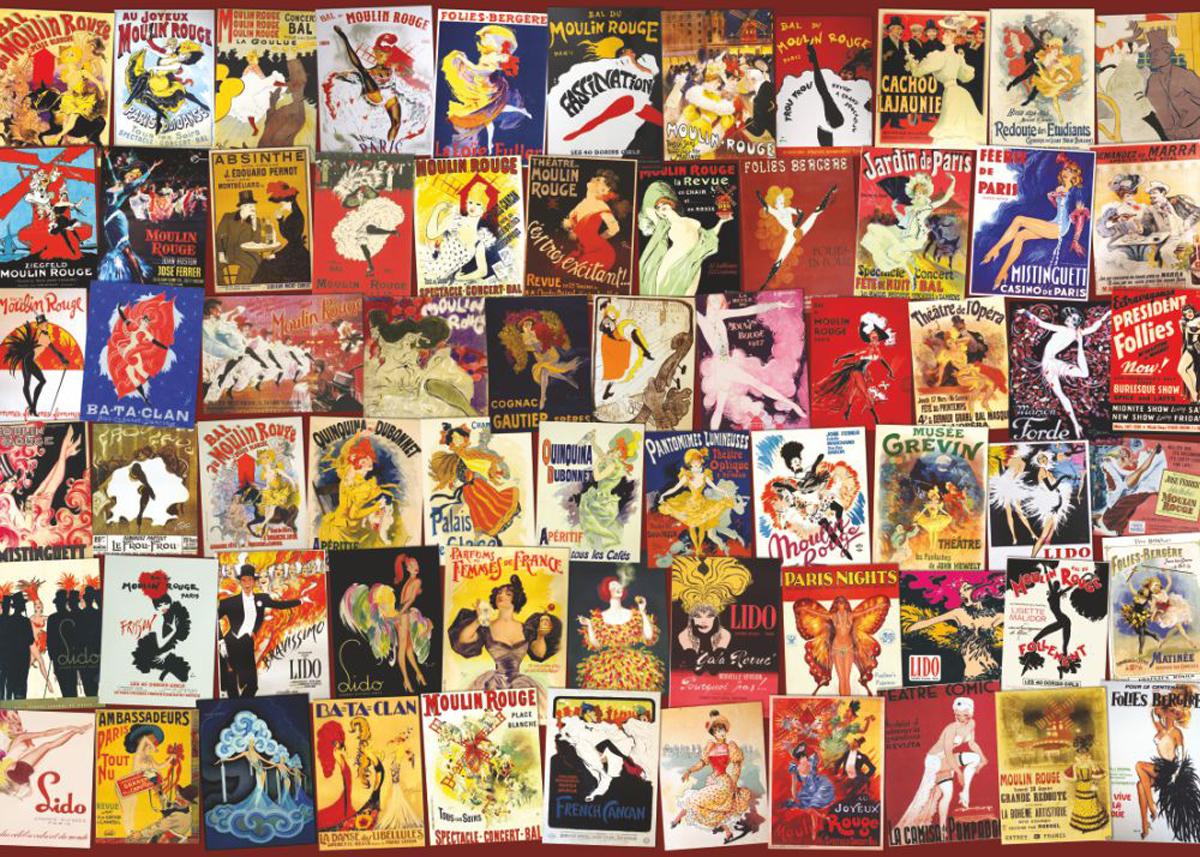 Moulin Rouge Nostalgic / Retro Jigsaw Puzzle